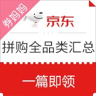 【拼购全品类】京东拼购全品类券汇总